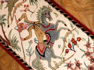 小さいハンティングデザイン細長い絨毯49012
