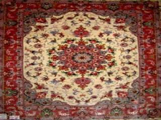 ペルシャ手織り絨毯ソファー前タブリーズ35296