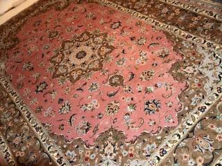 ペルシャ絨毯6平米カシャーンピンク18994