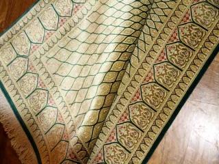 オリエンタルデザインシルクペルシャ絨毯49058