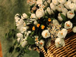 花のじゅうたんペルシャ絨毯フラワーデザイン49118