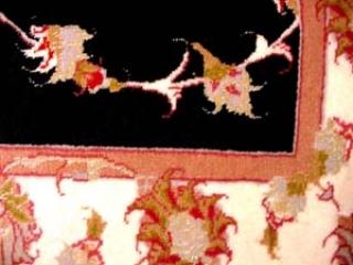 輸入手織りペルシャ絨毯タブリーズ、ウール&シルク3075