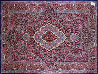 ラジャビヤン有名工房高級クムシルクペルシャ57024