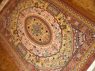 面白い絨毯のデザインシルククム50079