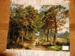 ペルシャ絨毯ピクチャー模様自然風景49109