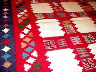 キリムラグのソファー前サイズペルシャ600003