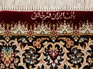 高級玄関マットの手作りペルシャ絨毯赤い色クム産地56060