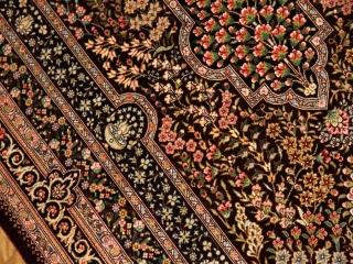 手織りシルク高品質ペルシャ絨毯クム産56093
