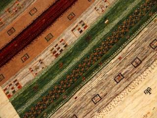 細かい織り方非常に柔らかいメリノウールラグギャッベ931600