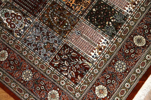 アンティーク風ペルシャ絨毯シルク48064