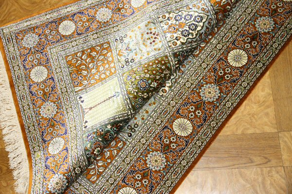 シルクカーペット絨毯ヘシティー模様49076