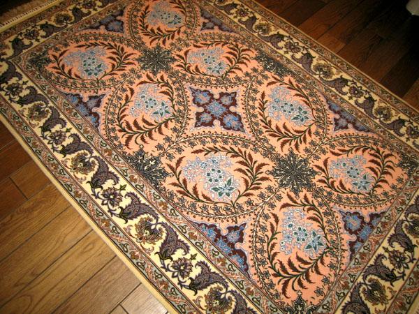 イスファハン織りペルシャ絨毯センターラグ3294