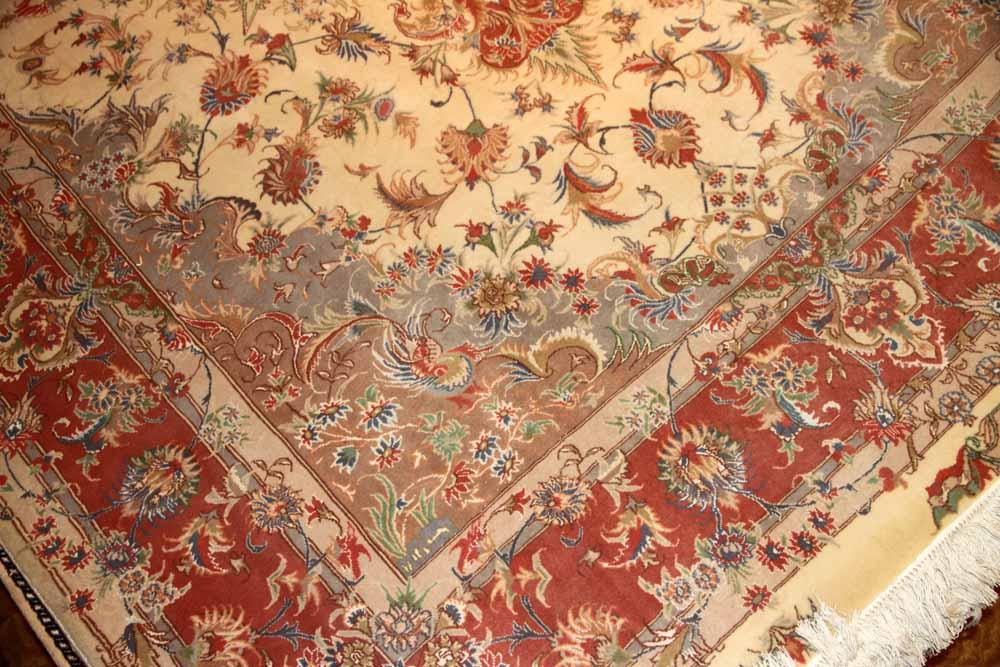 6帖リビングペルシャ絨毯タブリーズ35250