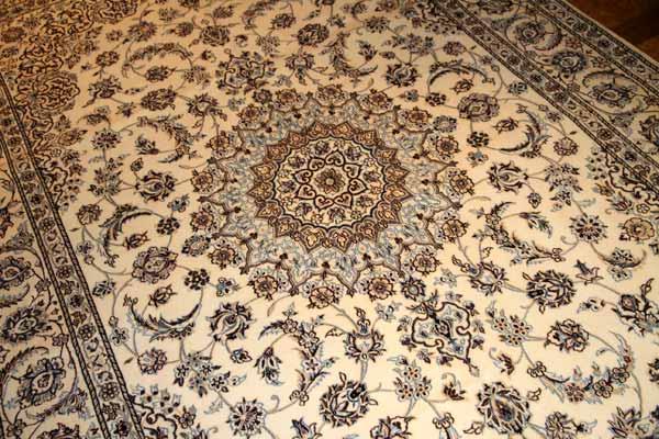 明るい絨毯ペルシャリビング手織りカーペット49147
