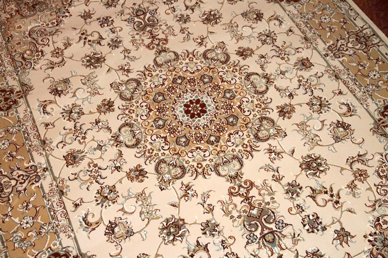 イラン輸入機械織りラグのペルシャ模様770017