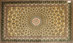 高級絨毯の手織りペルシャクムシルク47099