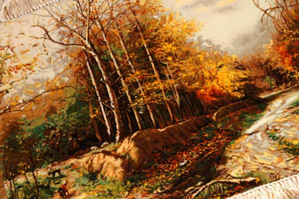 自然の風景ペルシャ絨毯タペストリー49116