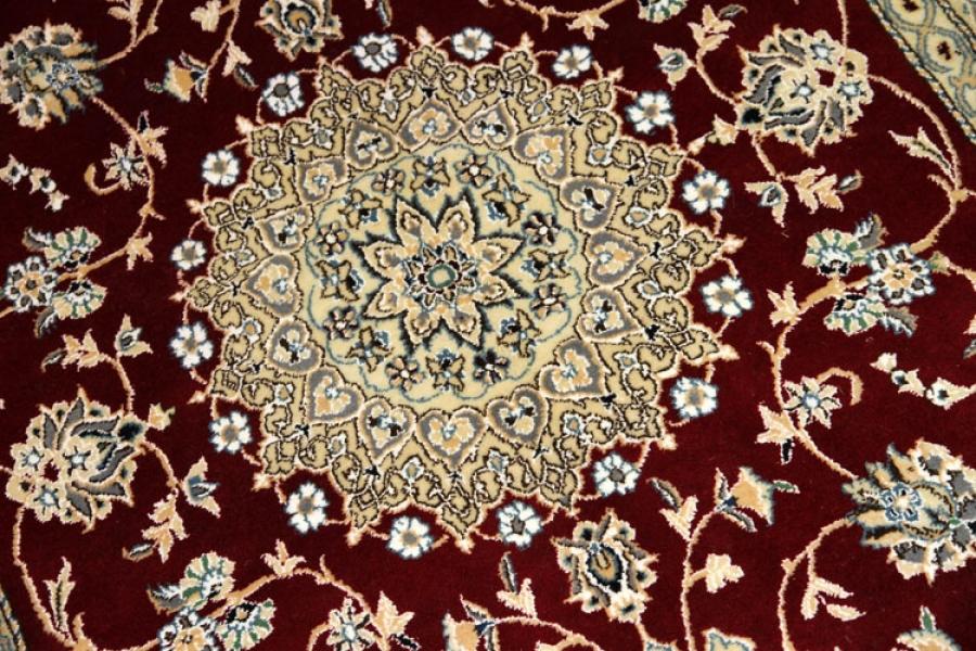 手織りエレガントラグペルシャ絨毯セール価格55460