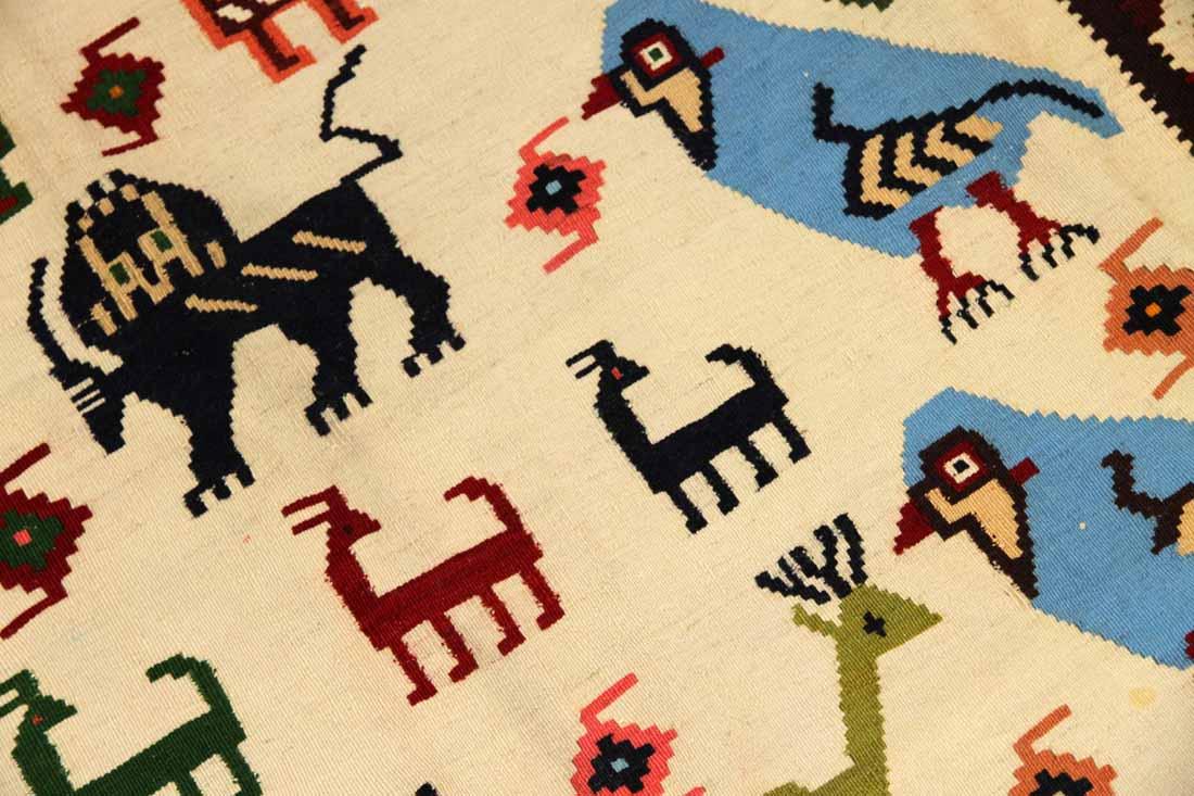 キリムビッグサイズシラズ産地の細かい織り方990001