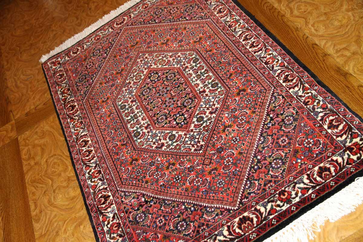 ビジャールの手織りペルシャ絨毯玄関マットウール188385