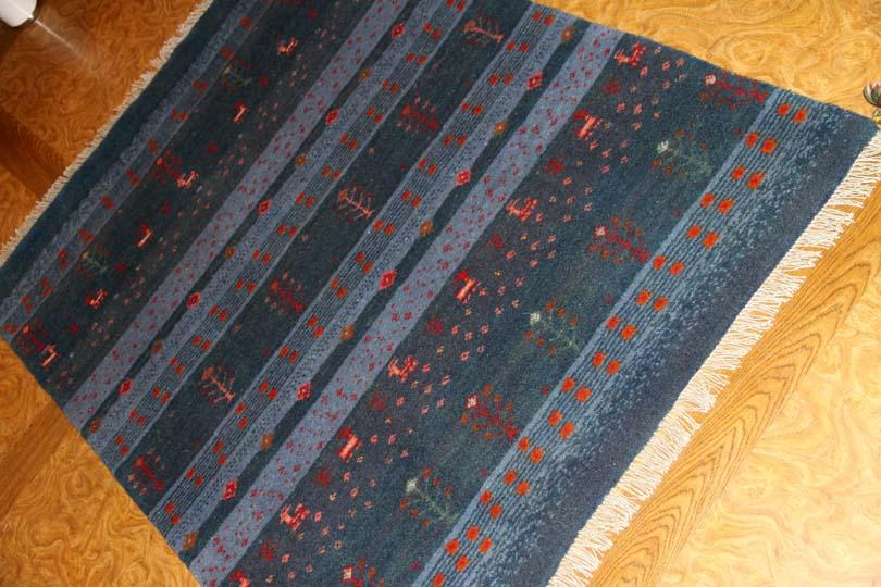 とてもシ高品質の高級手織りギャッベセンターラグ850000