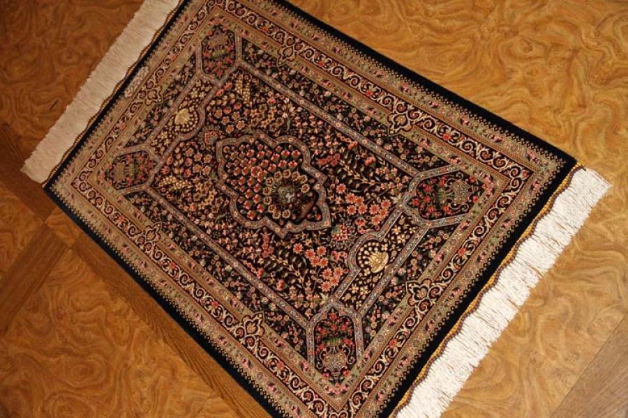 クムシルクの玄関じゅうたん高品質ブラウン色56031