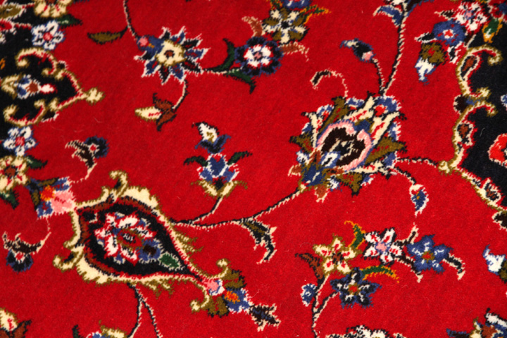 ペルシャ絨毯通信販売のカシャーンラグ赤い50124
