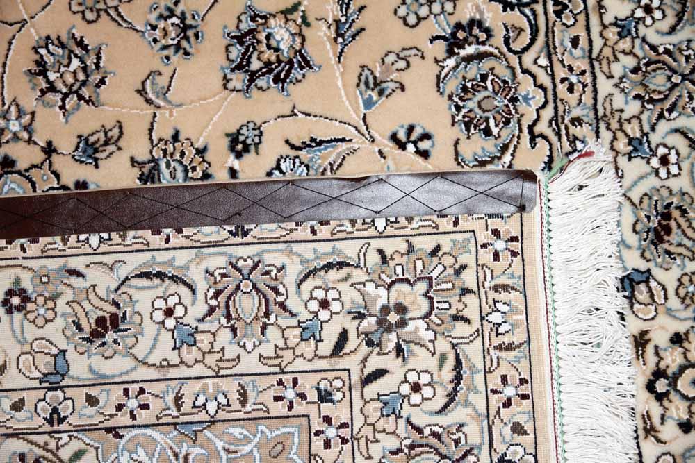 高級手織りペルシャじゅうたんナイン産メダリオン59025