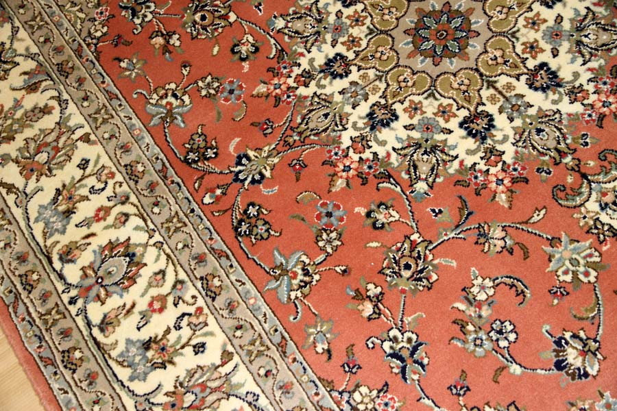 イラン輸入手織りペルシャカーペットカシャン55371