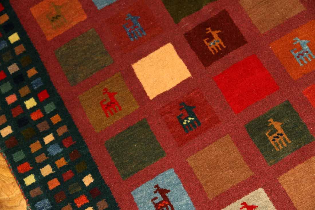 手織りじゅうたんギャッベのウールシラズ産地300000