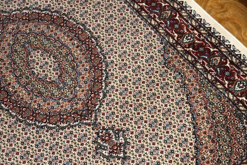 マヒデザインウール機械織りペルシャカーペット144006