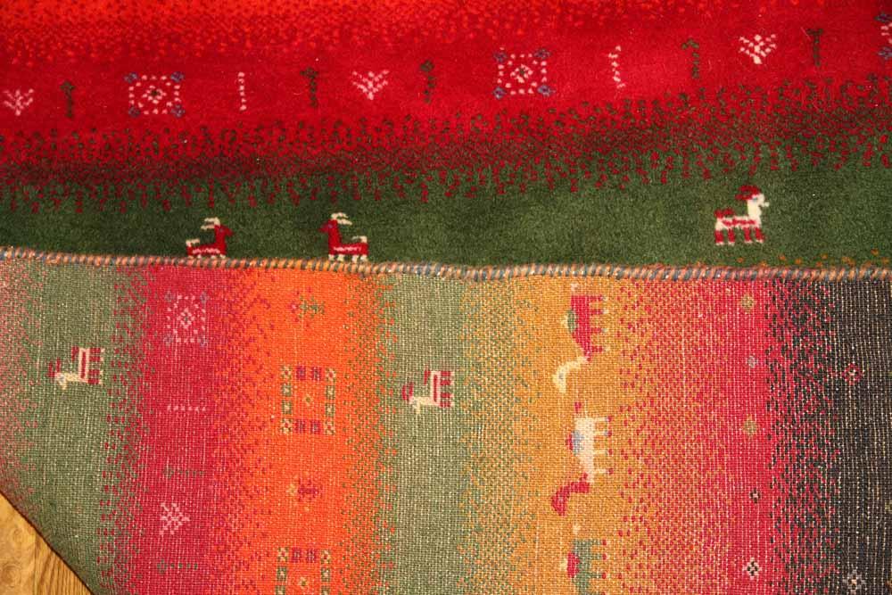 正方形の手織りペルシャギャッベイラン輸入670003