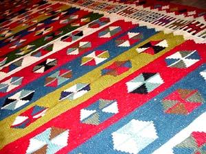 カラフルキリム、シラズの高級キリム絨毯342000