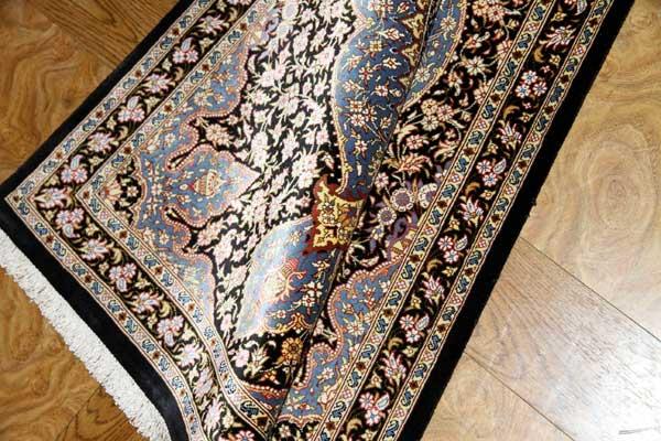 シックな玄関マット手織りペルシャ絨毯49033
