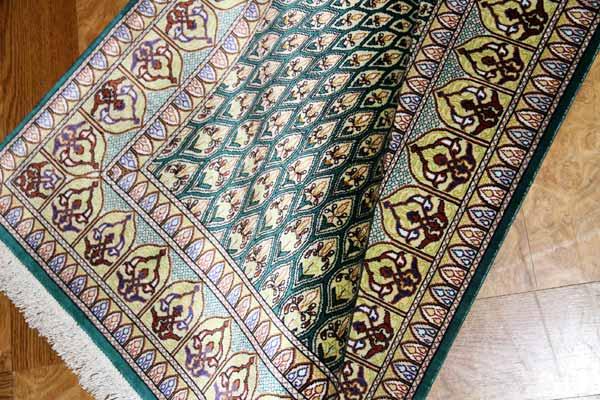 輸入玄関マットのシルククムペルシャ絨毯49053