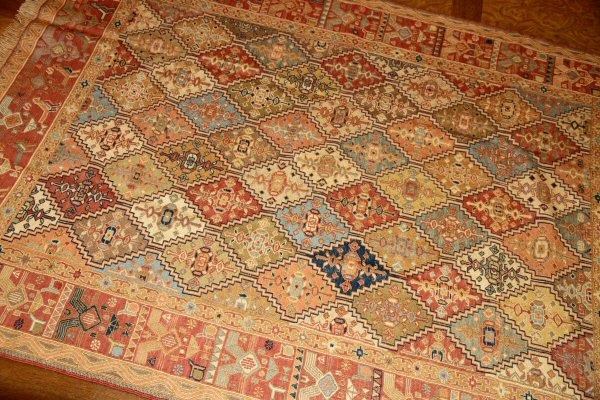民族キリムの高級絨毯キリムラグ35875