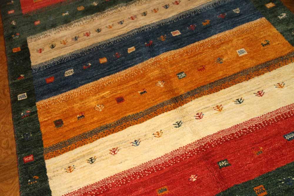 手織りギャッベイラン直輸入ウールソファー前19230