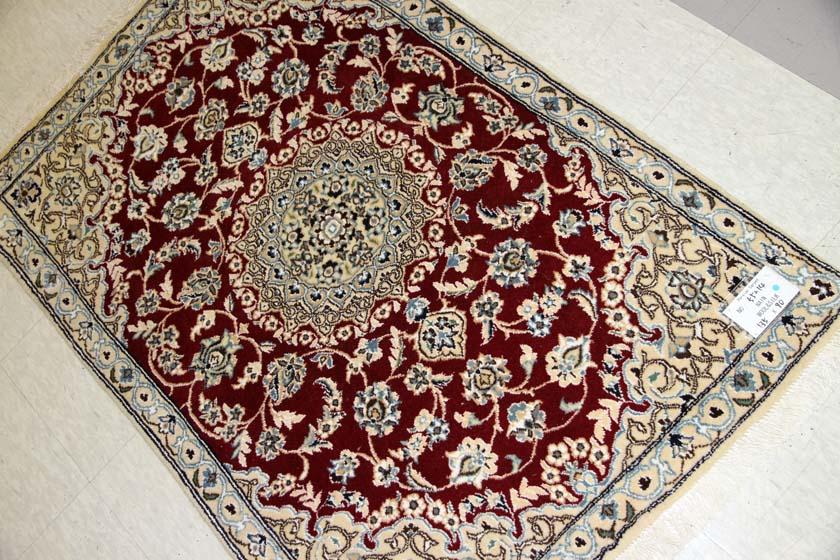 高級手織り玄関じゅうたんペルシャナイン赤い55214