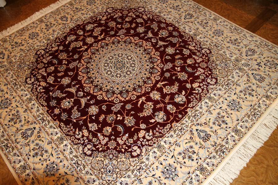 ハビビヤン工房最高級正方形絨毯57033