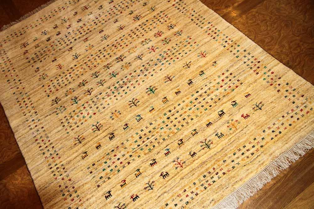 高品質のイラン製ギャッベ、メリノウールペルシャ18316