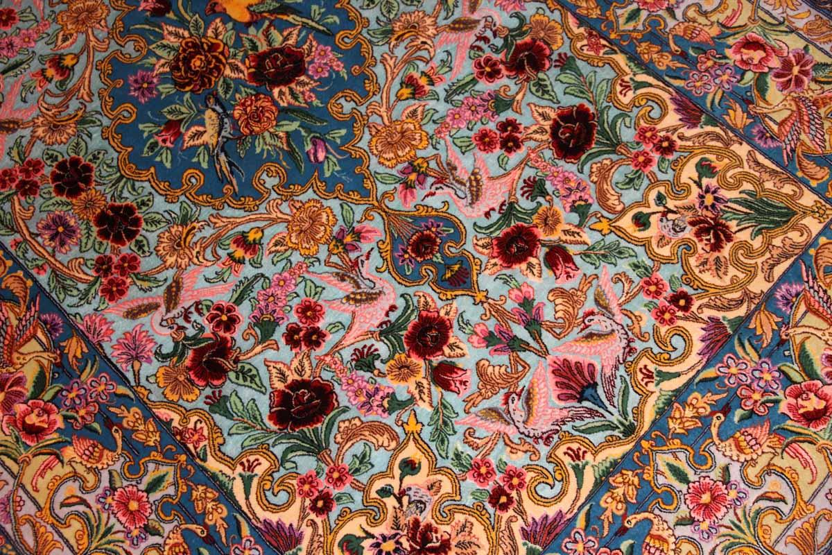 ペルシャ絨毯イスファハン、高級ハンドメイドラグ311600