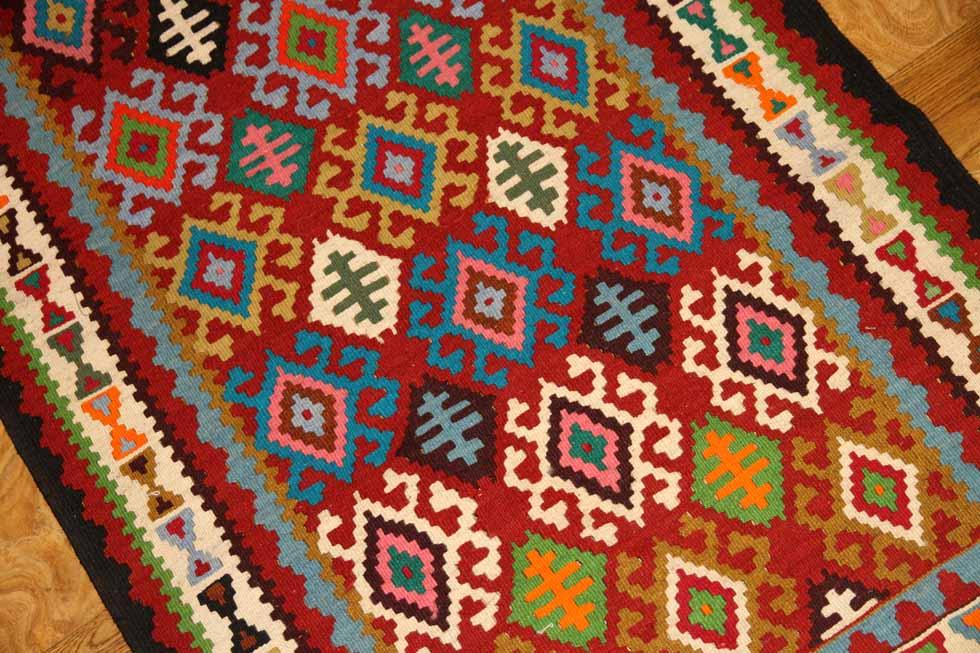 キッチンマット手織りペルシャキリムコルデスタン225000