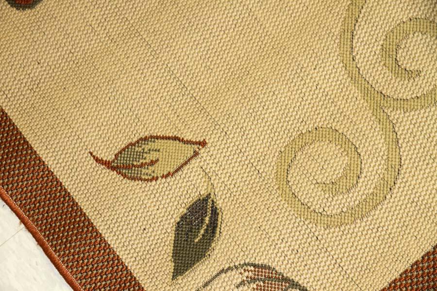 機械織りジャジムのイラン製センターラグ990031