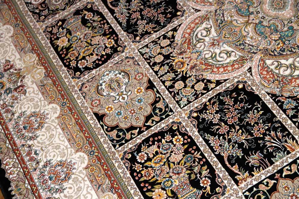高級機械織りイラン製リビングカーペット正方形990082-I