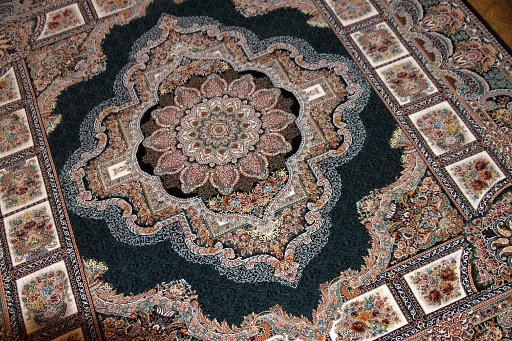 イラン製機械織りリビングカーペット正方形990083J