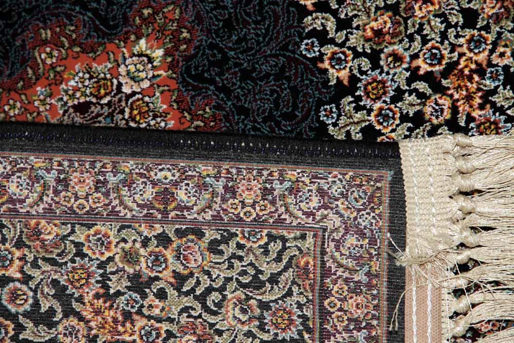 イラン製の高級機械織りのカーペット玄関マット990055