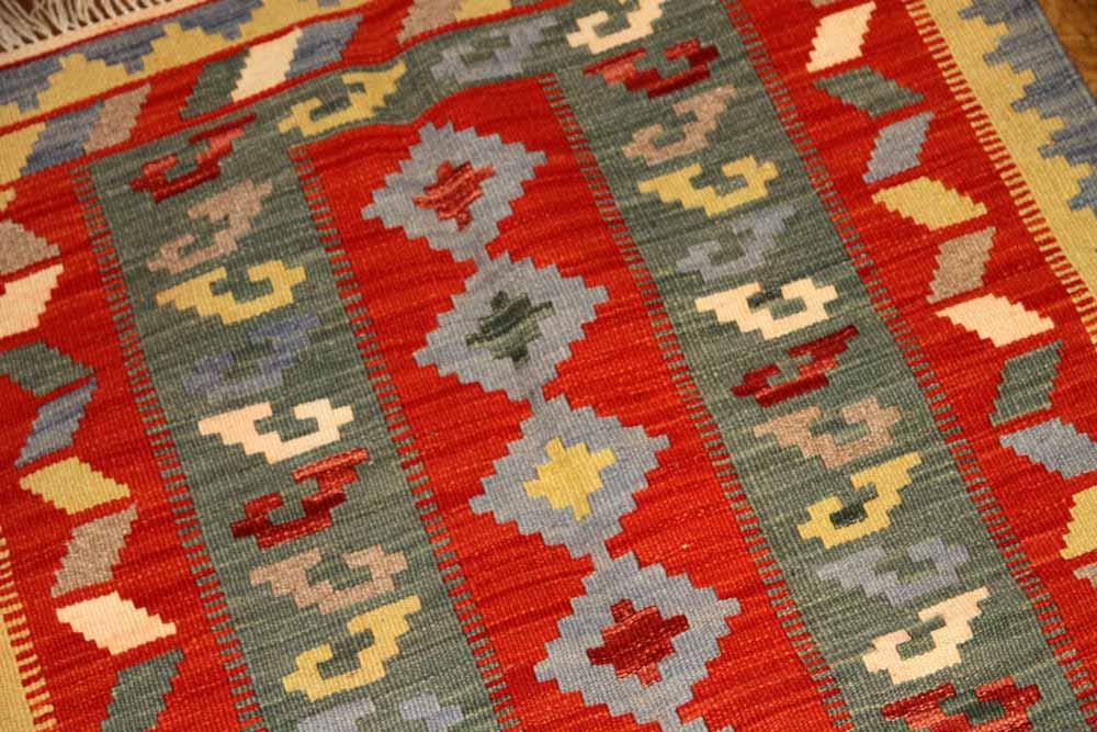 素敵なキリムマット手織りのイラン製46508