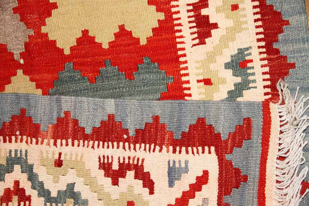 おしゃれイランキリムの玄関絨毯サイズ46503