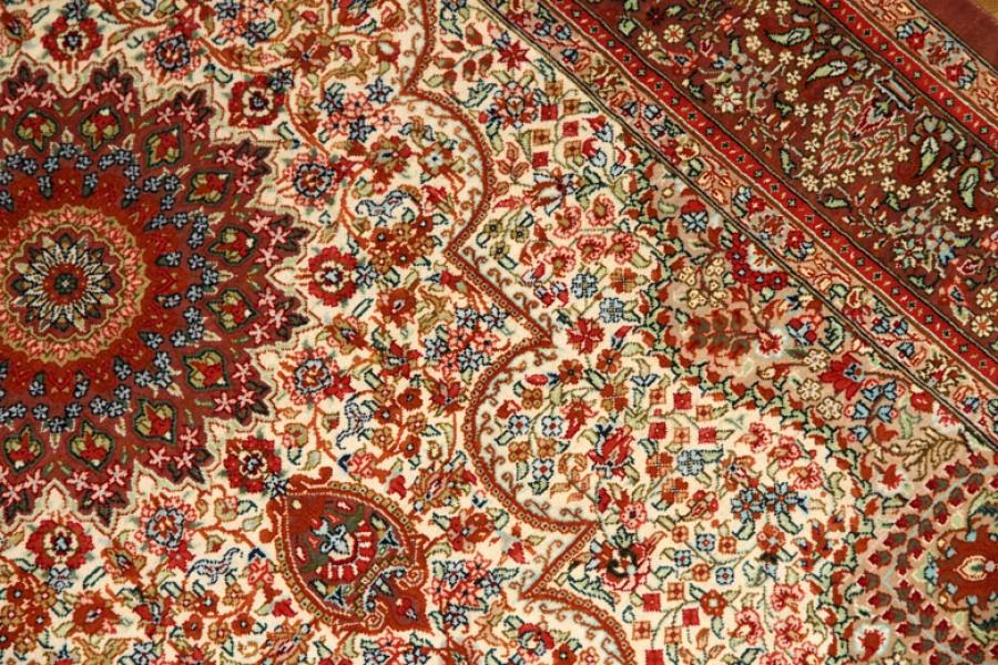 玄関ホール絨毯のハンドメイドシルクペルシャクム産56091