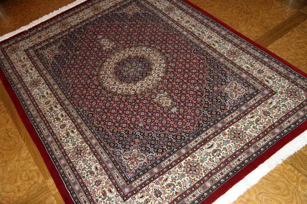 手織りペルシャ絨毯イラン製ムード産地ソファー前サイズ18566